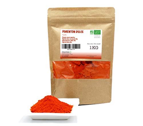 FRISAFRAN - Paprika Edelsüß Pulver Spanisch 100% Bio-Qualität (1Kg)