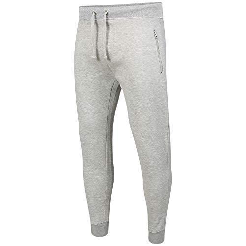 Geeney Grigio Jogger Pantaloni Uomo Tuta Joggings pantaloni della tuta Piccolo Pantaloni Slim Fit Due Tasche Con Zip