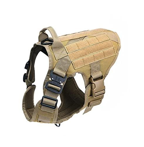 Homeilteds Military Tactical Hundegeschirr Hundeschulen Hundeweste Metallschnalle Deutscher Schäferhund K9-Hundegeschirr und Leine for kleine große Hunde Waistcoat (Color : Black Set, Size : L)