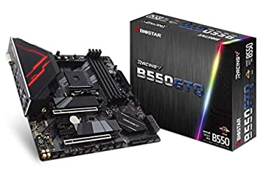 BIOSTAR Racing B550GTQ AMD AM4/B550/microATX/PCIe 4.0/DDR4/M.2/SATA 6Gb/s/USB 3.2 Gen 2/Realtek RTL 8118AS/HDMI 4K/Gaming Motherboard…