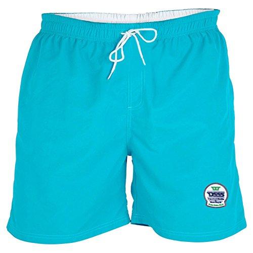Duke D555 Homme Grande Taille Short Natation Yarrow Plage Pantalon - Bleu, 4XL
