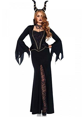 shoperama Evil Enchantress Damen Kostüm Leg Avenue Böse Königin Hexe Queen Stiefmutter, Größe:L