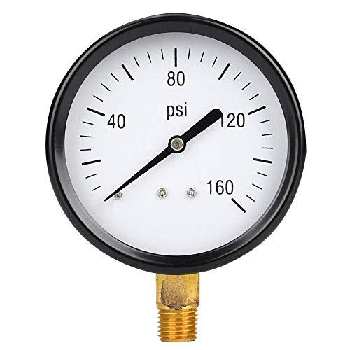 LKK-KK Medidor de presión de 1/4 NPT, medidor de presión mecánico 0-160PSI, medidor de presión de aire de aire de aire de 1/4 pulgadas NPT.