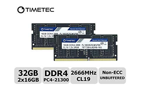 Timetec Hynix IC DDR4 2666MHz PC4-21300 1.2V CL19 2Rx8 260 Pin SODIMM Laptop Arbeitsspeicher Speicher (32GB(16GBx2))