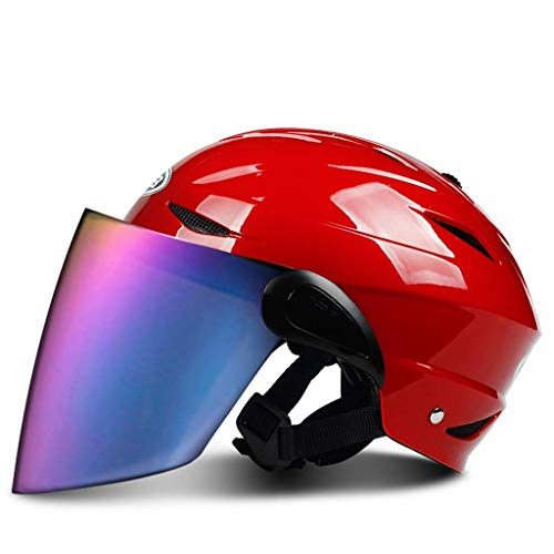 YINUO-Casque Casque de motocyclette Casque de motocyclette Casque de motocyclette (Color : RED)