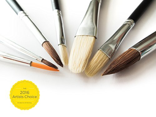 McQueen Arts Oil & Watercolor Paint Brush Set , 7 perfect brushes - Professional Edition.