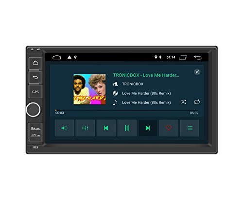 "Henhaoro Android 10.0 car Stereo 2G Ram 7"" in Dash 2 Din GPS Navigation Player Receiver Touch Screen Radio Head Unit SD Support 256GB"