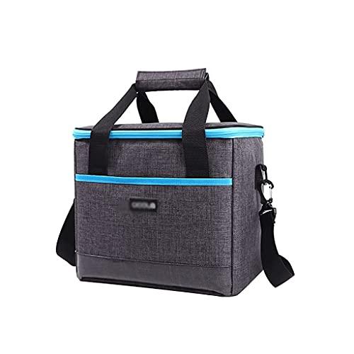 Bolsa de almuerzo plegable grande con correa para el hombro, cesta de picnic aislada para camping, picnic, almuerzo, barbacoa, playa, recreación al aire libre ZJ666