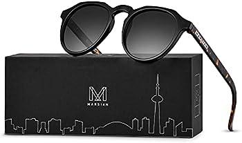 Unisex Retro Round Polarized Sunglasses with UV400 Protection