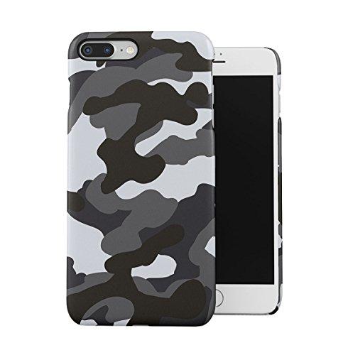 Grau Snow Camouflage Camo Dünne Handy Schutzhülle Hardcase Aus Hartplastik Hülle Kompatibel mit iPhone 7 Plus/iPhone 8 Plus Handyhülle Case Cover