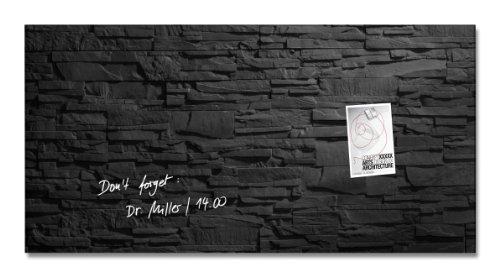 SIGEL GL149 Glas-Magnetboard 91 x 46 cm Motiv Schiefer-Stone / Magnettafel Artverum - weitere Designs/Größen