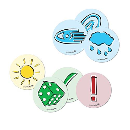 Legamaster 7-257002 Moderationskarten Emoticons, verschiedene Symbole, rund, 250 Stück, sortiert
