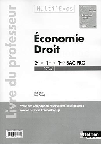 Economie Droit 2e 1re Tle Bac Pro