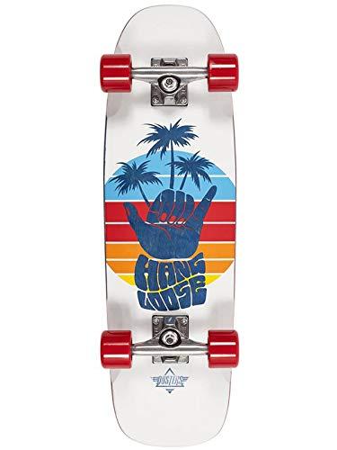 Duster Shaka Cruiser Skateboard, Weiß, 73,7 cm L x 17,8 cm B x 31 cm WB