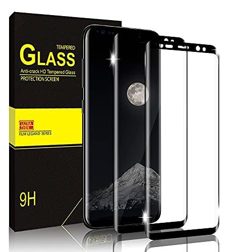 Bodyguard Panzerglas Schutzfolie für Samsung Galaxy S8 [2 Stück], 9H Härtegrad Panzerglasfolie, Anti-Kratzen, Gebogene Kante, Ultra-Klar Displayschutzfolie für Samsung S8