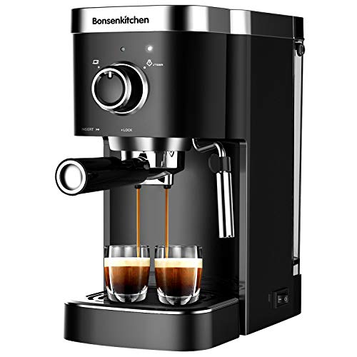 Espresso Machine 20 Bar Coffee Machine With Foaming Milk Frother Wand, 1450W High Performance...