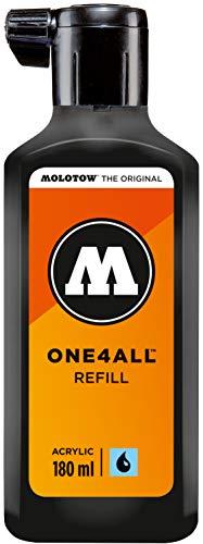Molotow ONE4ALL Refill Acryl (Nachfülltinte für Permanentmarker, 1 Stück à 180 ml) Farbe 180 signal schwarz