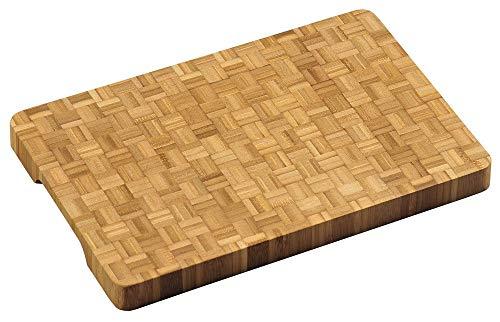 Professionele FSC® Houten Bamboe Snijplank, met verzonken handgrepen | Dikke snij plank | Afm. 36 x 24 x 3 Cm. | Pro Snijplank