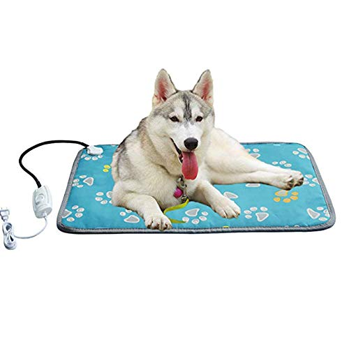 SHMCWDR Wärmer Haustier Wärmematte Sicherheit Haustier Heizkissen Einstellbare Temperatur wasserdichte Katze Hund Haustierbett Weiche Energiesparende Elektrische Heizdecke