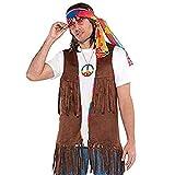 Amscan - 843050-55 - chaqueta sin mangas con flecos - Hippie Estilo