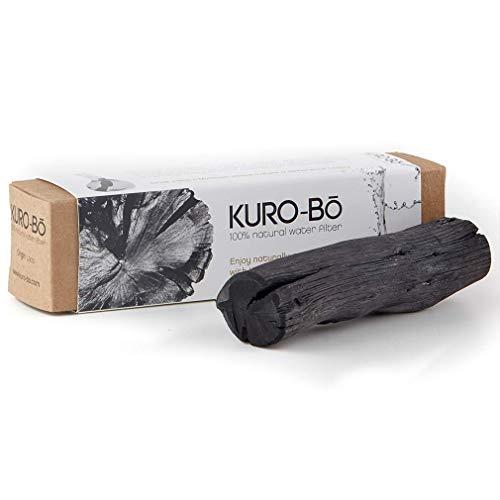 KURO-Bō Binchotan-Aktivkohle-Wasserfilter-Stab, frei von Kunststoff, hält 6 Monate – reinigt Leitungswasser für Kanne, Flasche, Karaffe 1 Packung