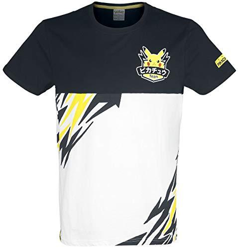 Pokémon Olympics - Team Pika Männer T-Shirt schwarz/weiß/gelb XL