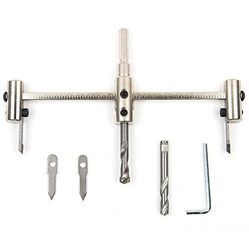 Srol Kreisschneider, verstellbar von 30–200mm, für Holz, aus Stahllegierung, Bit-Set mit kabellosem Spiralbohrer