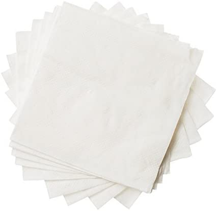 Amazon Com Crystalware 500 Pack White Beverage Paper Napkins 1 Ply Cocktail Napkins For Restaurant Bar Or Home Use Disposable Napkins Cocktail Napkins