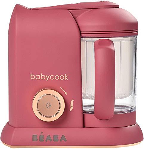Béaba Babycook Solo Robot de cocina infantil 4 en 1 Tritura, cocina y cuece al vapor Cocción rápida Comida casera y deliciosa para bebés y niños Comida variada para tu bebé Litchee