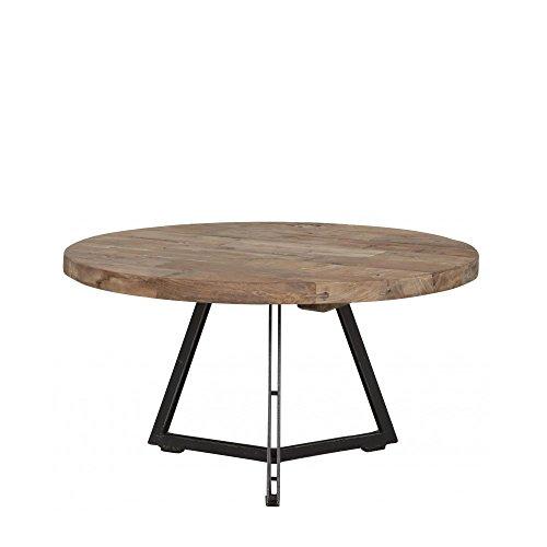 Meuble Passion Table Basse Industrielle Ronde Teck et métal recyclés ø55 à 75cm (Ø55cm)