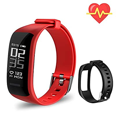 Beitong Fitness Tracker HR, Activity Tracker Watch with Heart Rate Monitor, Waterproof Smart Fitness Band with Step Counter, Calorie Counter, Pedometer Watch for Kids Women and Men
