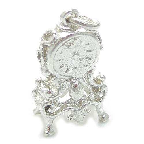 Kamin Uhr sterlingsilber charm .925 x 1 Kaminsims Uhren charms EC71