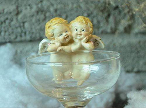 Pkfinrd beeldje sculptuur ornament creatieve bloempot rand decor beker Trinket miniatuur liefhebbers engel Cupid beeldje geschenken huisdecoratie accessoires moderne fee tuin, twee fornuizen