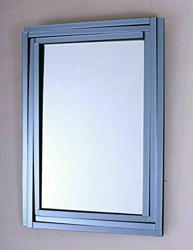 NIDDA Espejo veneciano de pared grande para dormitorio, espejos modernos de pared para pasillo, entradas y salón. 70 x 90 cm (ancho x largo)