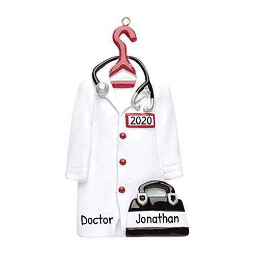 Amazon Com Personalized Doctor Christmas Tree Ornament 2020 Medical Uniform Hanger Practitioner Health Care Hospital Family Baby Profession Coworker New Job Physician Md Surgeon Clinic Free Customization Home Kitchen