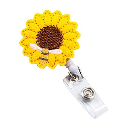 Moent Stilvoller Schlüsselbund Sonnenblumenabzeichen Rollenhalter Genauer Nähgurt Teleskop-Einziehclip Küche , Dining & Bar
