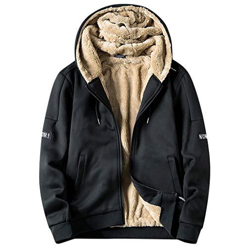 moonmisuni Hombre Mujer Sudadera--Now OR Sudadera y Chaqueta Polar cálida para Hombre Casual con Capucha Negro Negro XXXL