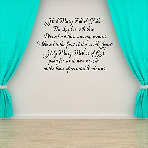 Anyuwerw Hail Mary Prayer- Vinilo decorativo para pared, decoración del hogar para Navidad