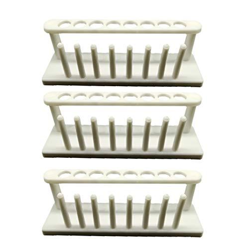 Balacoo 3 Stücke Kunststoff Reagenzglas Rack Labor Reagenzglas Rack Halter für Labor Reagenzgläser Lagerung Veranstalter