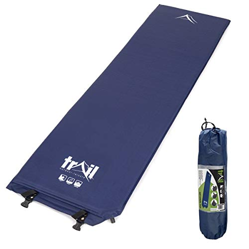 trail outdoor leisure Inflatable Single Camping Mat, Self-Inflating, 5cm Thick Memory Foam, Lightweight Sleeping Mattress, Carry Bag