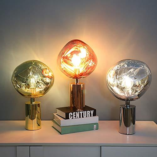 De enige goede kwaliteit Decoratie Postmodern Minimalistisch Ontwerp Persoonlijkheid Nachtkastje Glas Lava Creatieve Woonkamer Slaapkamer Bureau Lamp 28 * 43cm (rood Koper/Chroom/Goud)