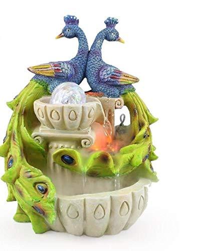 My Aashis Craft Creative Auspicious Peacock Atomization Water Fountain