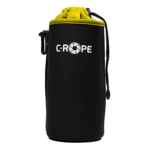C-Rope Neopren Objektivbeutel mit Fleece-Fütterung als Schutz für Objektive oder Kamerazubehör, Größe XL