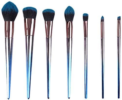 MU Outils de beauté pinceau de maquillage, 7 pièces Costumes professionnels, Ombre à paupières Fond de teint liquide Smudge Kit
