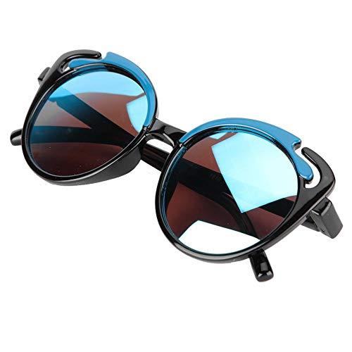 Lunettes de soleil bébé, dessin animé doux lunettes de soleil en gel de silice mode enfants silicone lunettes photographie Prop cadeau pour bébé garçons et filles 2 3 4 5 ans(Noir)