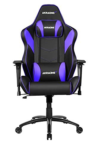 AKRacing Core Series LX Plus Gaming Chair - PU Leather with Steel Frame, Ergonomic, High Backrest, Recliner, Swivel, Tilt, Rocker & Seat Height Adjustment Mechanisms, 5/10 Warranty, Indigo