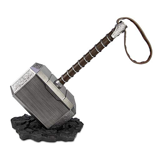 DMAR 1:1 Thor Hammer with Standing Base Collectible Replica Cosplay Costume Prop Toy Brown