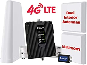SolidRF Cell Phone-Booster-for Home Dual Interior Antennas Office Multiroom Up to 8, 000 sq ft | Verizon, AT&T, T-Mobile, Sprint & More Signal Plus Cell Signal Booster Kit