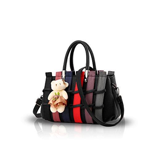 NICOLE & DORIS Handtaschen für Damen Umhängetaschen Henkeltaschen Damen Handtasche die neuesten Trends Spleiß Farbe