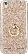 Fitted Cases - Fashion Silicone Holder Case for for Lenovo Vibe K5 Transparent Soft TPU Glitter Colorful Luxury Ring Back Case for for Lenovo A6020 (Gold)
